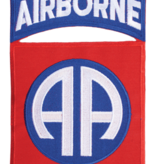 """Military 82nd Airborn with Tab 7 1/4"""" Patch - Iron On"""