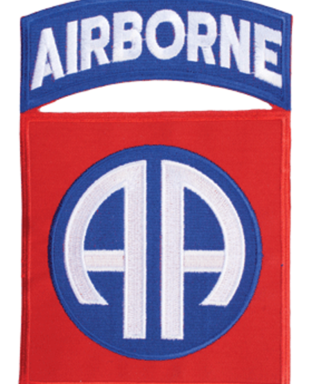 """82nd Airborn with Tab 7 1/4"""" Patch - Iron On"""