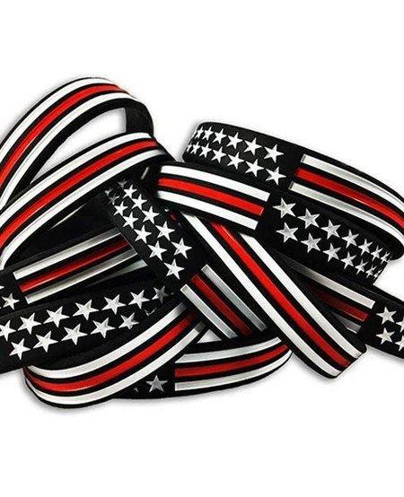 Thin Red Line American Flag Bracelet