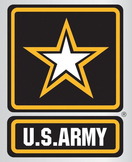 Army Star Logo Chrome Poly Decal