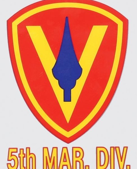 Marine 5th Division Window Decal