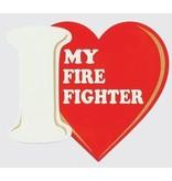 Mitchell Proffitt I Love My Firefighter Decal