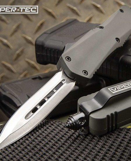 Grey Double Edge OTF Knife