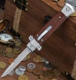 Wooden Stiletto Automatic OTF Knife