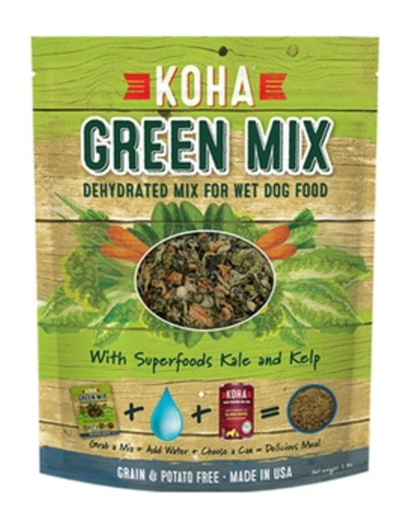 Koha Dog Food GF Dehydrated Green Mix 2#