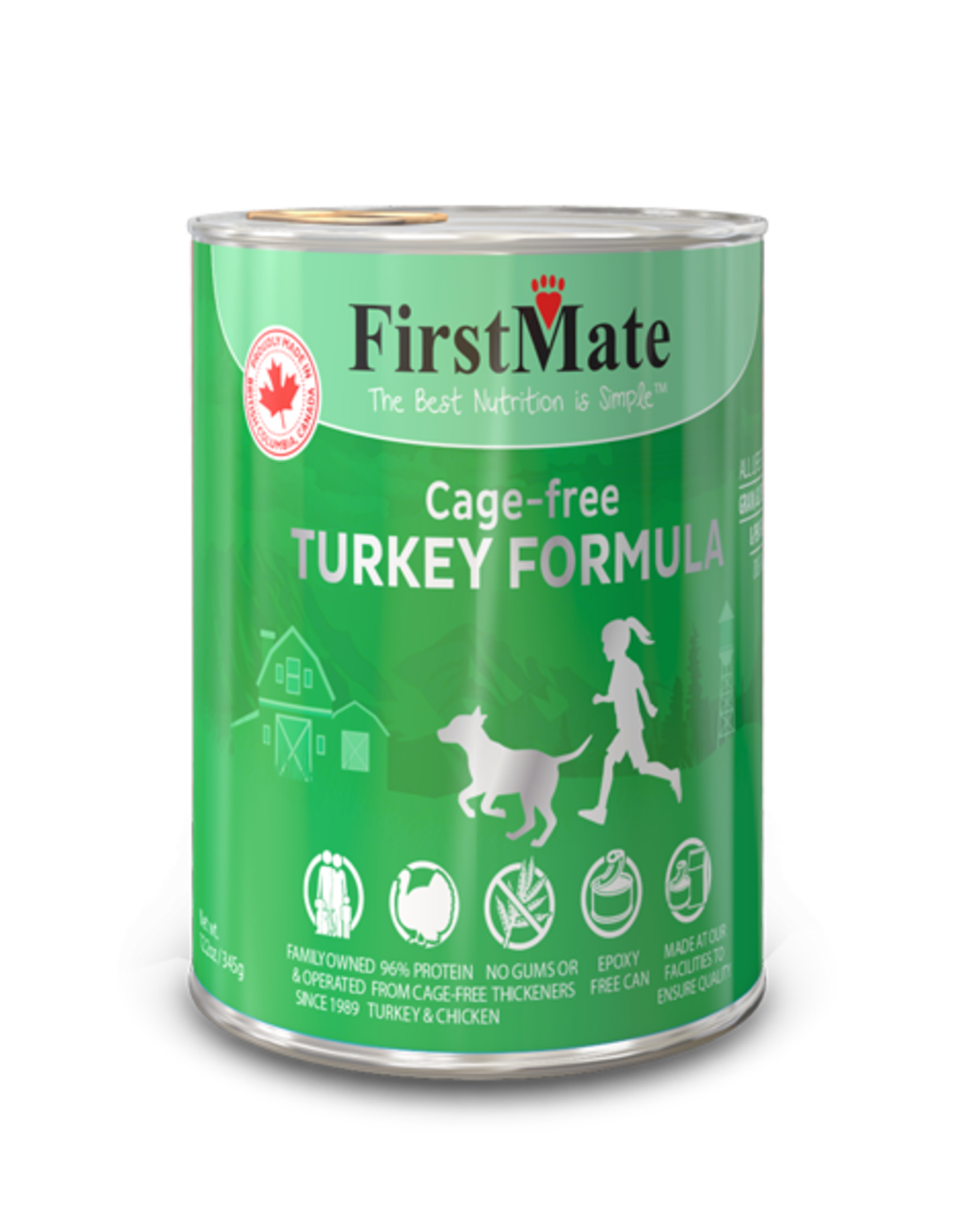 FirstMate FirstMate Cage Free Turkey Formula for Dogs – 12 Cans