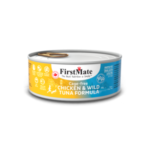 FirstMate Cage Free Chicken & Wild Tuna 50/50 Formula for Cats – 24 Cans