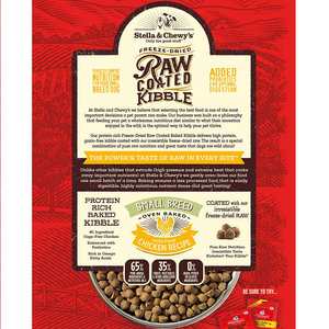 Stella & Chewy's Stella & Chewy's Dog Dry GF Raw Coated Small Breed Chicken Cage-Free