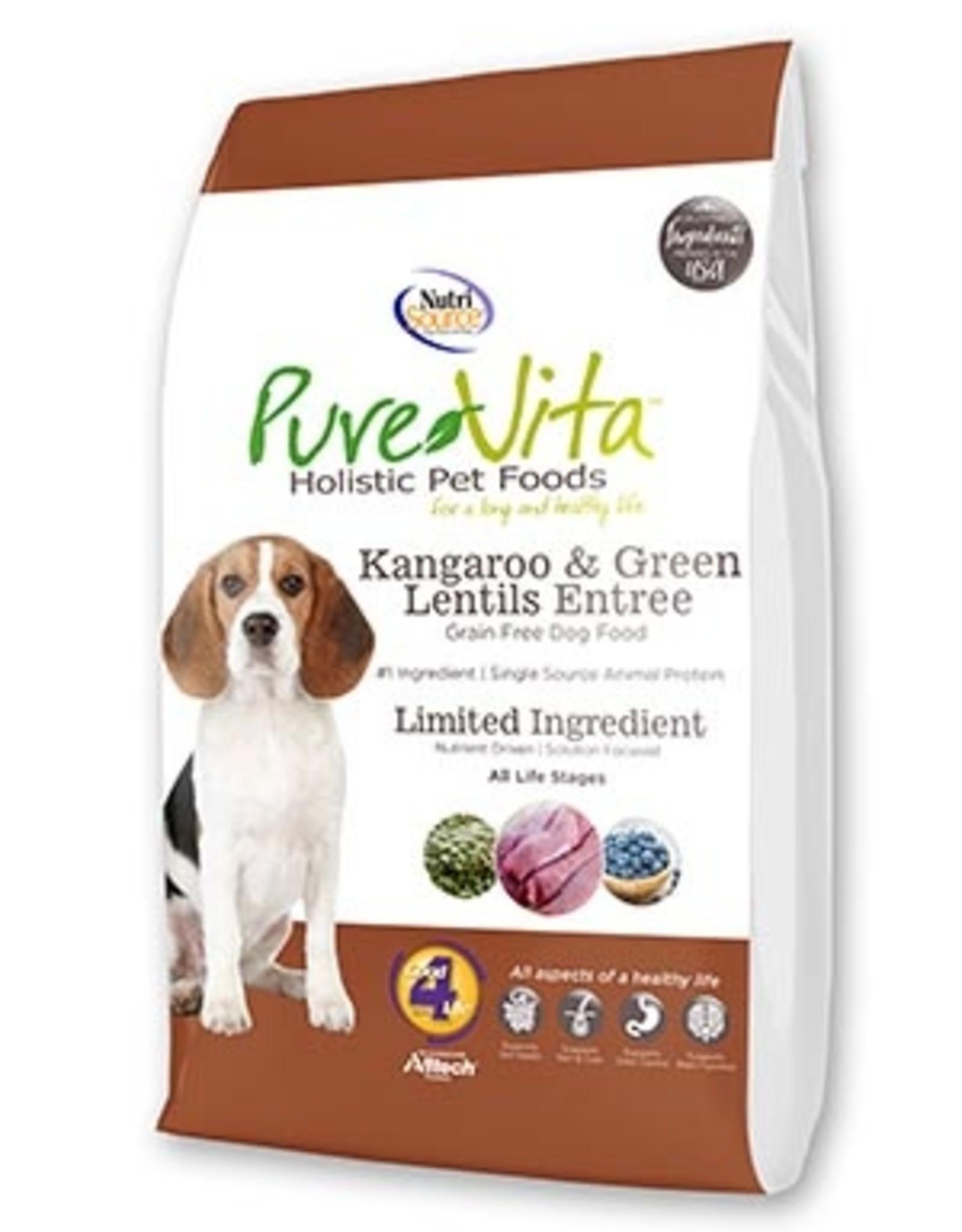 Pure Vita PureVita Kangaroo & Green Lentils Grain Free Entree