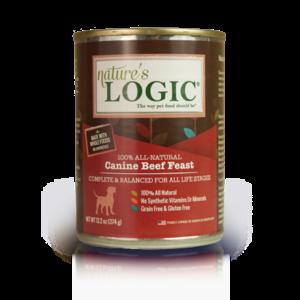 Nature's Logic Nature's Logic Dog Can GF Beef Feast 13.2 oz 12/Case