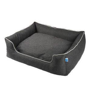 Messy Mutts Messy Mutts Bed Dog Bolster Sudio Dark Grey
