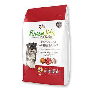 Pure Vita Pure Vita Dog Dry GF Beef & Red Lentil
