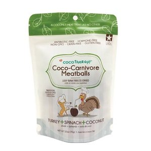 CocoTherapy Coco-Carnivore Meatballs – Turkey + Spinach + Coconut