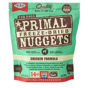 Primal Primal Chicken Formula Nuggets Grain-Freeze-Dried Dog Food