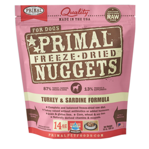 Primal Primal Turkey & Sardine Formula Nuggets Freeze-Dried Dog Food