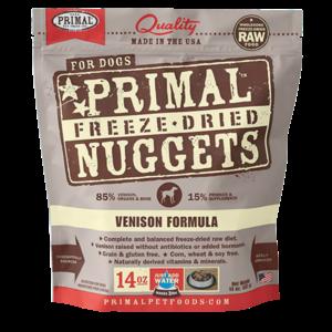 Primal Primal Venison Formula Nuggets Freeze-Dried Dog Food