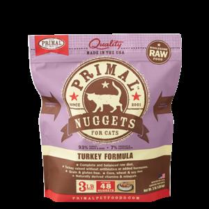 Primal Primal Cat Frozen Nuggets Turkey