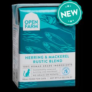 Open Farm Open Farm Cat Wet Rustic Blend GF Herring & Mackerel 5.5 oz 12/Case