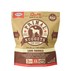 Primal Primal frozen canine nuggetts lamb 4 lb.