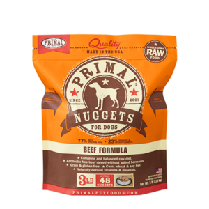 Primal Primal Dog Frozen Nuggets Beef