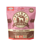 Primal Primal Dog Frozen Nuggets Turkey Sardine
