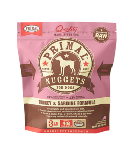 Primal Primal Dog Frozen Nuggets Turkey Sardine