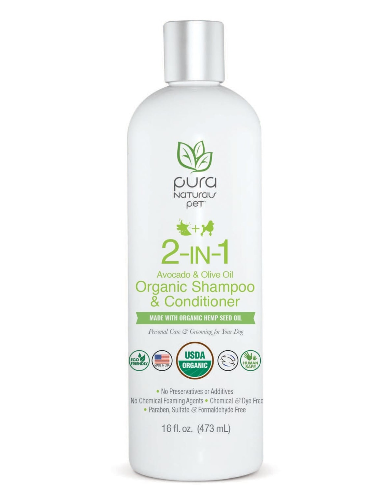 Pura  Naturals Pura Naturals 2-in1 Avocado and Olive Organic Shampoo and Conditioner