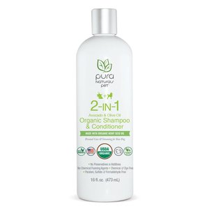 Pura  Naturals Pura Naturals 2-in1 Avocado and Olive Organic Shampoo and Conditioner