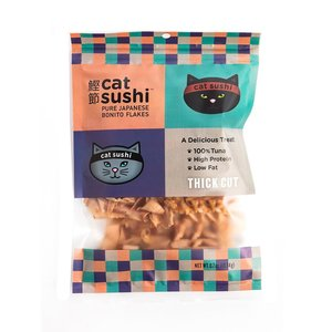 Presidio Natural Pet Cat Sushi Thick Cut Bonito Flakes Cat Treat