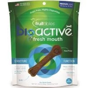 Fruitable Fruitable Bioact Dental  Fresh Mouth Dog Treat