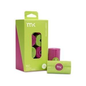 MK Modern Kanine 160 Bags (8 Rolls) Green & Pink
