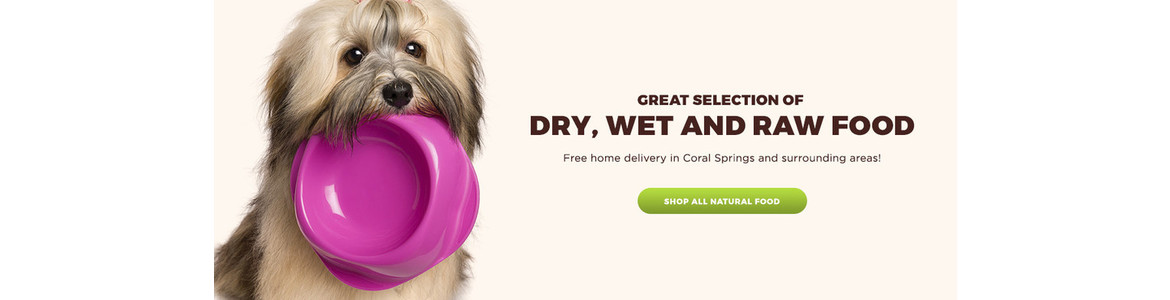 Wide selection of dog food