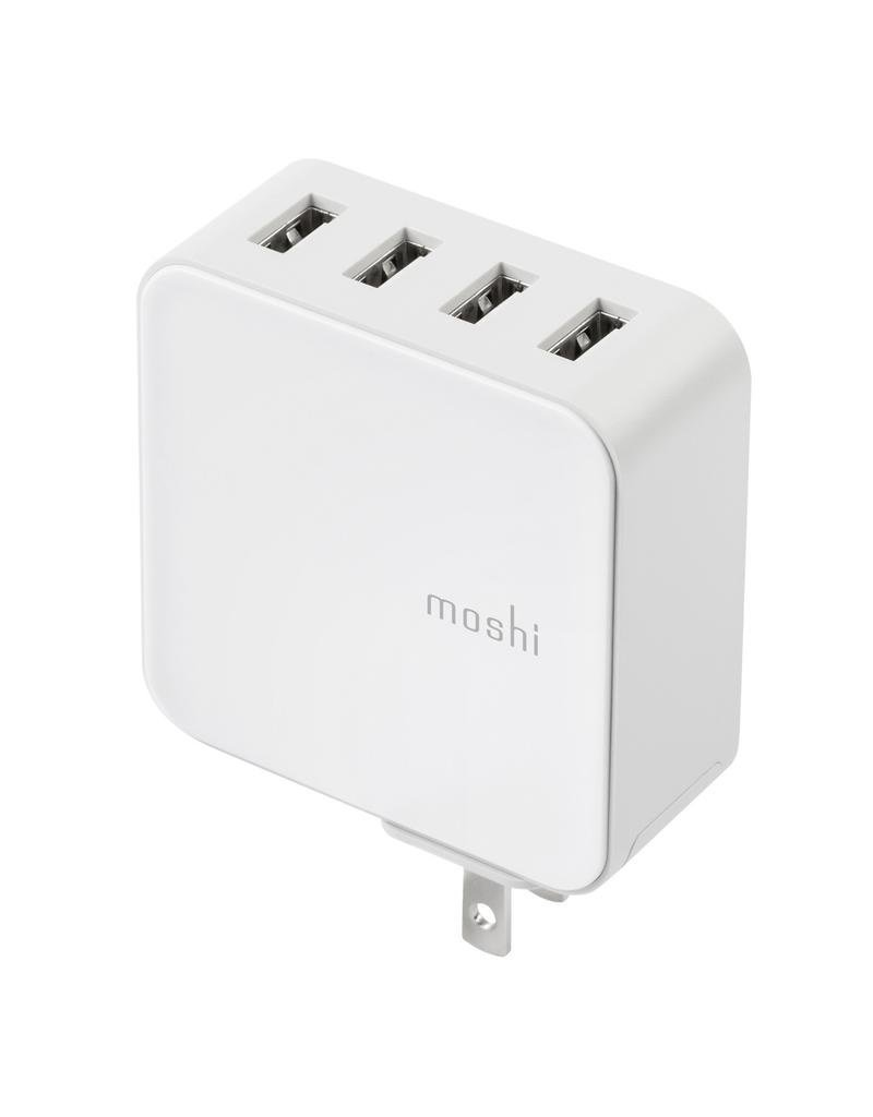 moshi moshi ProGeo 4-Port USB Wall Charger (35 W) US