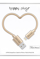 Happy Plugs Happy Plugs Charge & Sync Cable Matte Gold 2m