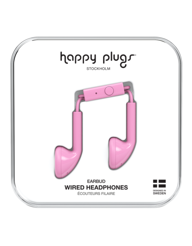 Happy Plugs Happy Plugs Earbuds with Mic Pink