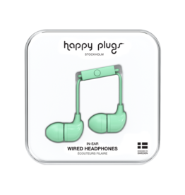 Happy Plugs Happy Plugs In-Ear Earbuds with Mic Mint