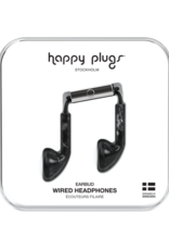 Happy Plugs Happy Plugs Earbuds with Mic Black