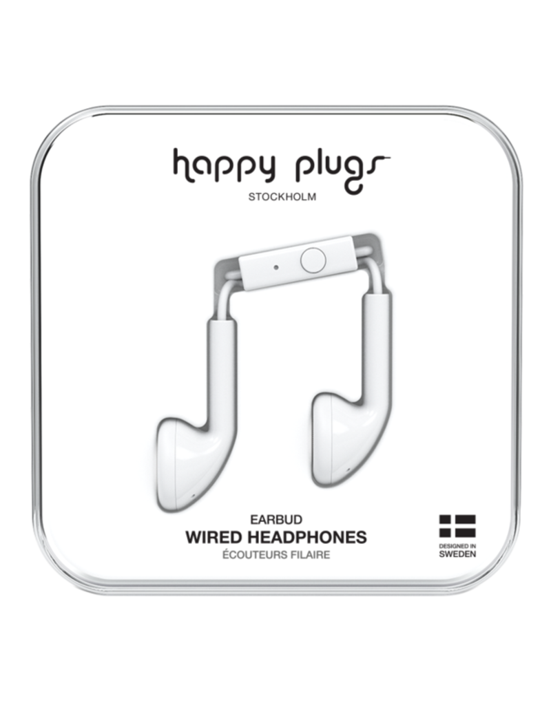 Happy Plugs Happy Plugs Earbuds with Mic White