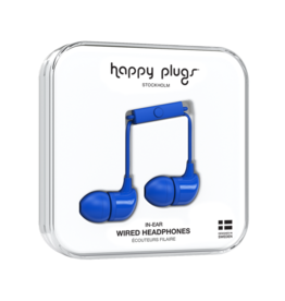 Happy Plugs Happy Plugs In-Ear Earbuds with Mic Cobalt