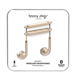 Happy Plugs Happy Plugs Earbuds Plus Wireless II Matte Gold BP