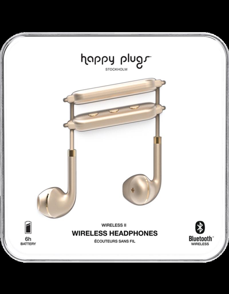 Happy Plugs Happy Plugs Earbuds Plus Wireless II Matte Gold BP