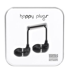 Happy Plugs Happy Plugs In-Ear Earbuds with Mic Black Marble