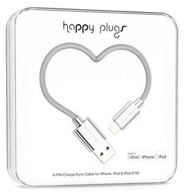 Happy Plugs Happy Plugs Charge & Sync Cable Silver 2m