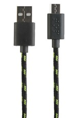 FuseBox FuseBox Sync and Charge Braided Micro USB Cable Black/Green