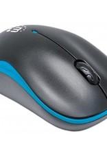 Manhattan Manhattan Wireless Mouse Blue and Black