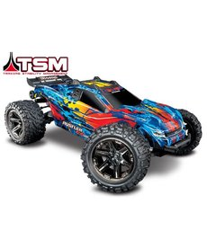 Traxxas Red Rustler 4X4 VXL 1/10 Scale Stadium Truck with TQi 2.4GHz TSM