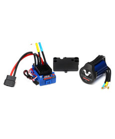 Traxxas 3350R Velineon VXL 3s Brushless Power System waterproof  ESC 3500 motor and speed control mounting plate (part #3725))