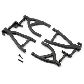 RPM Rear Up/Low A-arms, Black:1/16 ERV
