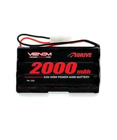 Venom DRIVE 9.6V 2000mAh 8-Cell NiMH Battery, Tamiya Plug (VNR1522)