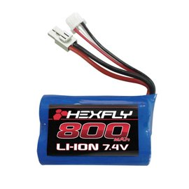 Redcat Racing 28021T Li-ion Battery (7.4V,800mAH) with mini Tamiya connector